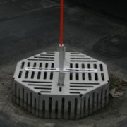 Roof Drain Marker Company USA made roof drain markers for all size and shape drain covers weight always evenly distributed over the center of every cover