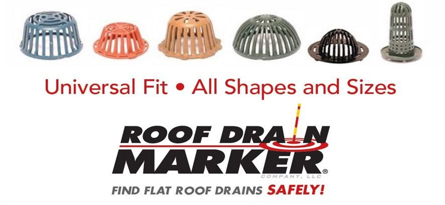 universal roof drain marker