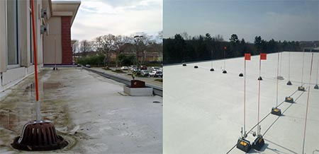 roof drain marker examples
